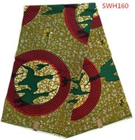 Wholesale wax print fabric SWH160 african wax printing cotton wax fabric yards piece