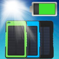 battery backups color - In stock mAh Portable Waterproof Solar Power Bank Backup Battery Charge For Phone Newest Color