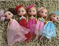 Wholesale Cute cm Lovely girl Toy Baby Kids Princess pieces Doll Birthday gift Wedding present Mixed color