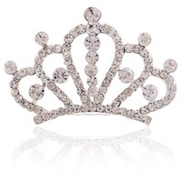 Wholesale Crystal Woman Hair Crowns Accessories Girls Gift Fashion New Hair Tiara Wedding Ornament Peacock Head Jewelry