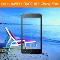 bee cloth - X HD Clear Glossy screen protector film For huawei honor bee y541 y5c quot cell phone front HD film Lcd panel clean cloth