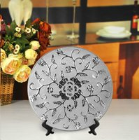 america dishes - House furniture house America silver models Peony ceramic dish porcelain fruit plate decoration jewelry