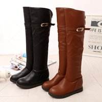 western cowboy boots - Women Jackboot knight boots Thigh High Boots square heel Pointed Toes Solid F611