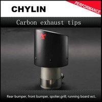 Wholesale car styling Inlet mm to Outlet mm Akrapovic Carbon Exhaust Tip Escape Akrapovic Muffler Tip