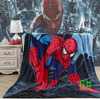 Wholesale Cartoon Spiderman KT Princess Toddler Nap Mat Blanket CM Warm Blanket for Summer Autumn Winter Free Shiping