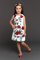 designer clothes - Wl Monsoon Baby Girls Dress D Rose Floral Cotton Brocade Children Clothing Designer Kids Clothing Girl Dress For Girls