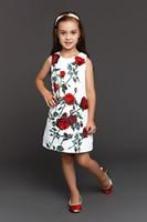cotton clothing for children - Wl Monsoon Baby Girls Dress D Rose Floral Cotton Brocade Children Clothing Designer Kids Clothing Girl Dress For Girls