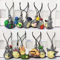 Cheap Japanese Anime MOVIE My Neighbor TOTORO CELL PHONE Strap Wholesale EMS Free Shipping 50Sets Lot order<$15 no tracking