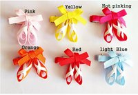 ballet dance clips - free shippng Ribbon Ballet Slippers ballerina hair bows Dancing shoe hair clips Sculpture hair clips clippies HD3341