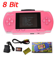 Wholesale 8 Bit inch PVP LCD Screen Digital Pocket Game Console New PVP2 Portable Handheld game player with free Game Card Retail package