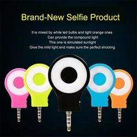 Wholesale 2015 New RK Portable Night Using Selfie Enhancing Camera Flash Light For Smartphone Colorful External Rechargeable LED fill light