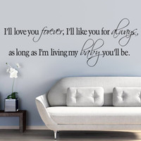baby love quote - Love You Forever Like You Always As Long As I m Living My Baby You ll Be Vinyl Wall Sticker Quotes Sayings Nursery Decor Decal