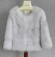 Wholesale The new special high grade Finland blue fox fur fur coat The fox fur round collar short coat