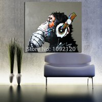 wall decor art canvas - Decorative Art Handmade Oil Painting On Canvas Living Room Home Decor Wall Paintings Thinking Orangutan Animal Pictures