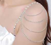 artificial shoulder - Bridal jewelry Crystal Bra Tassel Belt Strap artificial diamond Wedding Bridal Jewelry set Wedding dress special shoulder shoulder chain