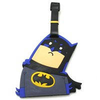 Wholesale Awesome Desing New Bat Man Hero Rubber Luggage Tag For Suitcase Bag Bat ManTraveling Laggage Tag