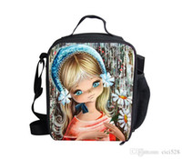 backpack lunchbox - 13 style cute England girl D Cute Girl lunch bags kids food thermal bag small dog lunchbox for girls children outdoor lancheira picnic bag