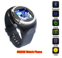 Wholesale NEW Inch Wrist Phone Watch Cell phone MQ998 Bluetooth Headset GSM Touch Screen Quad Band with Bluetooth MP3 FM Camera Smart Watch