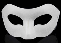 Wholesale Drawing Board Solid White DIY Zorro Paper Mask Blank Match mask for Schools Graduation Celebration Halloween Party masquerade mask