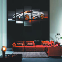 Cheap Canvas Print Modern Painting 5 Panels Canvas Luxury car Wall Art Picture Home Decoration Living Room