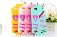soft drink - 3D Drink Soft Silicone Case For iphone Plus S A milk cartoon Boys Tears case