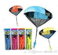 Wholesale 1000PCS HHA100 Colors skydive Parachute with Figure Soldier Toy for Kids Children Outdoor Sport Color send random