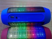 Wholesale Hot Selling MINI Pulse Portable Wireless Bluetooth Speaker LED lights FM U disk TF card Outdoor speaker