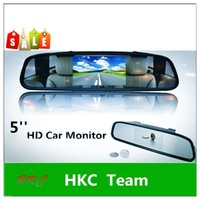 Wholesale Hot Sale Superdeals HD inch car rearview mirror car monitor X480 digital screen reversing reversing the priority DVD monitor