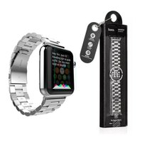 Smart Watches stainless steel buckle - HOCO Stainless Steel Watch Band Strap with Adapter bracelet Watchband Strap Classic Buckle mm mm Watch Band Strap for Apple Watch