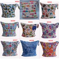 Wet Dry babyland wet bag - 2015 Hot Babyland Baby Diaper Nappy Bags Mummy Handbag Carrier Storage Bag Organizer