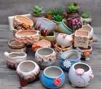Nursery Pots - Garden flowerpot ceramic flowerpot more meat meat can be kind of micro landscape plants potted flowers potted flower more optional
