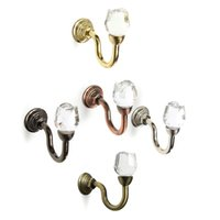 Wholesale New Arrival set Rose Metal Crystal Curtain Hanger Hook Wall Hook Curtain Buckle Rustic Curtain Clip order lt no track