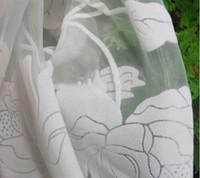 Wholesale Beautiful curtain White sheer quality window screening curtain yarn balcony rustic romantic curtain sale