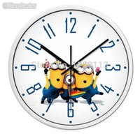 bedroom decoration themes - 12 Inch Minions Fashion Design Circular Round Theme Wall Clock Modern Creative Home Decoration Living Room Bedroom Decor