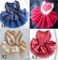Wholesale pomeranian dresses chihuahua summer clothing dogs princess dress pet spring clothes puppies outer wear perros teddy bear apparel