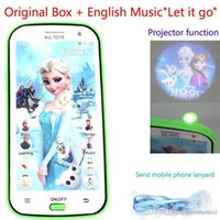 baby mobile blue - Frozen English Language Mobile Baby Phone Toy Learning Education Learning Machines Electronic Educational Toys Gift For New Year A5