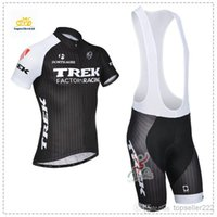 Wholesale TREK Cycling Jersey Set Yellow Short Sleeve With Padded Pants Men Summer Racing Bicycle Clothing XS XL Cycling Kit