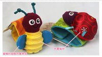 Wholesale Lamaze Garden Bugs Wrist Rattle Foot Finder Baby Set Plush baby toys Educational toy High Contrast with box L0392B