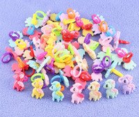 Wholesale My Little Pony Ring Children s Resin Rings red purple yellow green turmeric blue pink