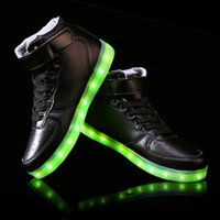 Cheap 2015 New Men and Women Fashion Luminous Shoes High Quality LED Lights USB Charging Colorful Shoes Lovers Casual Flash Shoes