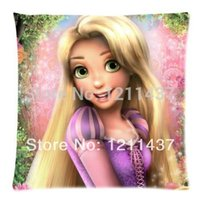 beautiful custom homes - Beautiful Princess Tangled Rapunzel Custom Zippered x18 Throw Cushion Cover Pillow Cases for Home Textile Sofa Bedding Couch