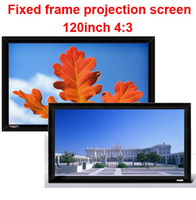 aluminium framework - High quality inch Aluminium Edge Wall Mounting Fix Framework Projector Projection screen for Home Cinema