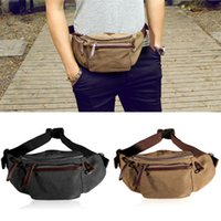 Wholesale Men s New Fashion Canvas Waist Pack Outdoor Sports Waist Bag Fanny Packs
