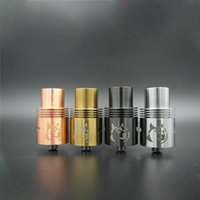 Cheap Rebuildable Doge V2 Atomizer Vaporizer Clone RDA Doge Tanks E Cigarette 22mm Stainless Steel Black Red Copper 4 colors Electronic Cigarettes