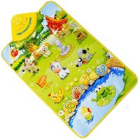 Wholesale Essential New Creative Music Sound Farm Animal Kids Baby Play Playing Mat Carpet Play Mat Gym Toy