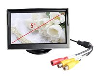 Wholesale 5 quot Digital Color TFT LCD Car Monitor Reverse High Resolution HD no Rearview Camera DVD VCR