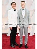 bur - 2015 Oscar Neil Patrick Harris R and actor David Bur Wedding Suit For Man Notch Lapel Best Man Groom Tuxedos Suits Jacket Pants Tie Vest