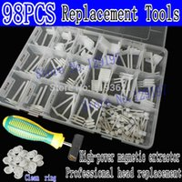 Cheap 98 PCS Hard drive head replacement toolkit +High-power magnetic extractor For 2.5-inch to 3.5-inch SAS SCSI data recovery tools
