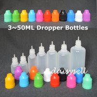 dropper bottle - E Cig Plastic Dropper Bottle With Childproof Cap And Long Thin Tip Empty Bottle ml ml ml ml ml ml ml E liquid Bottles
