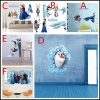 Wholesale 40 D frozen wall stickers models home decorative Decals Elsa Anna Olaf wallpaper eco friendly creeper house sticker J073101 DHL z